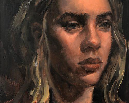 CANVAS-METHOD-Billy-Eilish-oil-painting-portrait-by-Steve-Williams-